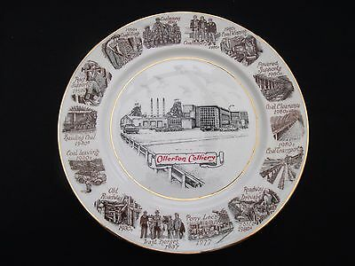 """1980's COLLECTABLE """"OLLERTON COLLIERY"""" NOTTS AREA  LIMITED EDITION  MINERS PLATE"""