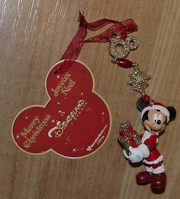 Disney Store Mickey Mouse Present Christmas tree ornament decoration bauble