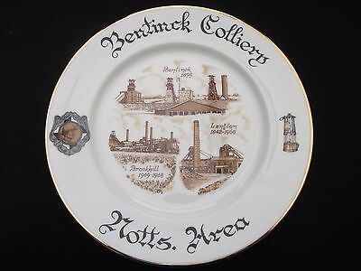 """1980's COLLECTABLE """"BENTINCK COLLIERY"""" NOTTS AREA  LIMITED EDITION  MINERS PLATE"""