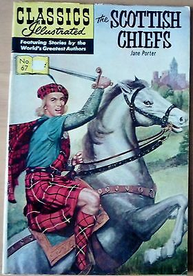 Classics Illustrated No.67 USA (HRN 167) THE SCOTTISH CHIEFS By Jane Porter