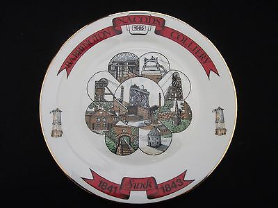 """1985 Collectable  """"babbington Colliery""""  1841-1985  N.a.c.o.d.s.  Miners Plate"""