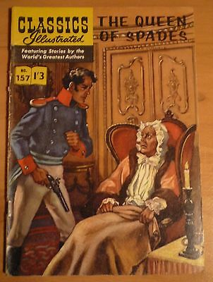 CLASSICS ILLUSTRATED No 157 UK only (HRN 156) The Queen of Spades By A. Pushkin
