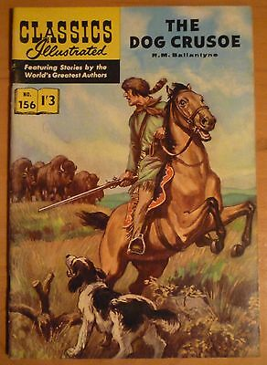CLASSICS ILLUSTRATED No 156 UK only (HRN 156) The Dog Crusoe: By RM Ballantyne