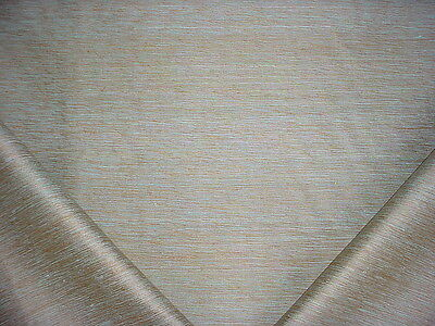 9+Y Kravet / Lee Jofa Exquisite Aqua / Gold Silk Strie Weave Upholstery Fabric