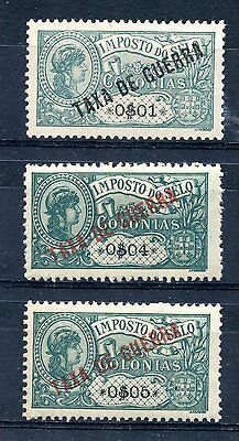 AFRICA, 1919, Postal tax, complete set perf. 12 1/2, + $04 cent., MH
