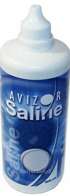 **500ml Avizor Saline Solution Contact Lens Storing Cleaning Cleaner new