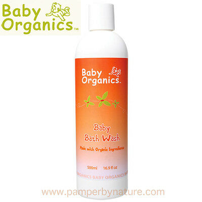 BABY ORGANICS BABY BATH WASH 500ml - Made with Organic Ingredients
