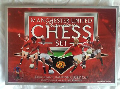 Retro Manchester United Champions Chess Set - With Box - VGC
