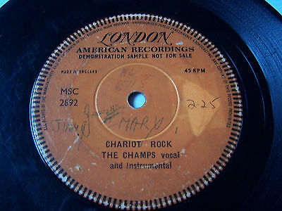 The Champs - Chariot Rock  ** One Sided London Label Demo *