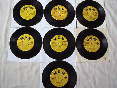 """Collection Of Connie Francis 7"""" Singles ** Some Rare **"""