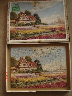 Vintage Victory POPPY FIELDS HOLLAND 150 piece wooden jigsaw puzzle complete