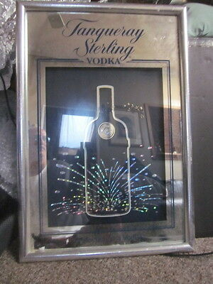 Vintage Tanqueray Sterling Vodka Mirror Bar Room Advertising Sign