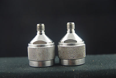 Two RF Microwave Type N to SMA Adapters