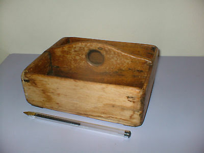 Small Primitive Solid Wooden Cutlery Tray Dovetail Jointed For Restoration