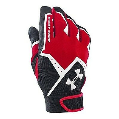 Under Armour Men's Clean-Up VI Batting Gloves, Red (600), Small