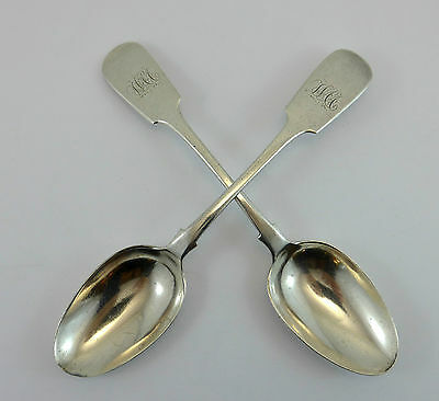 """2 Sterling Silver Spoons Savage & Lyman Canadian Silversmith Montreal Quebec 7"""""""