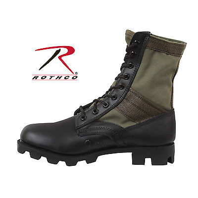 Rothco GI Style Jungle Boots--Olive Drab Canvas Uppers--SIZE 10R