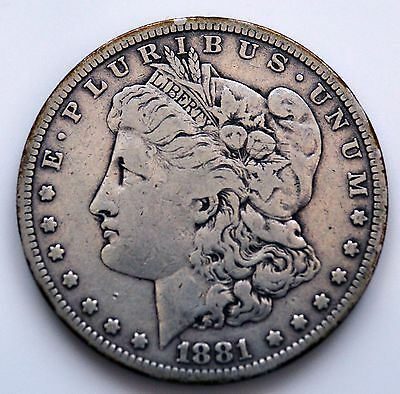 1881s Silver Morgan Dollar   (1 SN) (A)