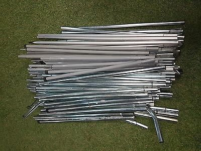Assorted Metal Tent/Awning Poles x approx 100 Job Lot