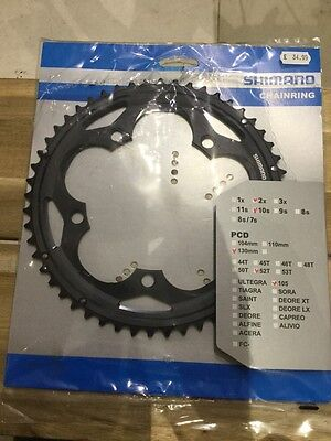 Shimano 105 52t 130pcd 10sp chainring