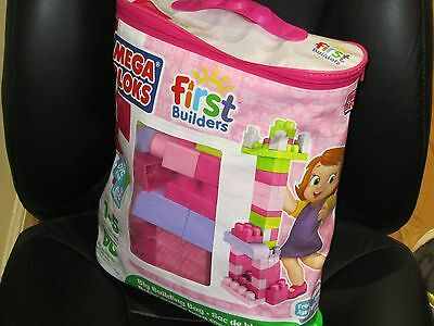 NEW! Mega Bloks Buildable Bag with 60 Pieces