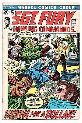 MARVEL COMIC Sgt Fury and His Howling Commandos (1963- 1981)   #102  Fine +