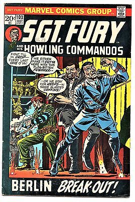 MARVEL COMIC Sgt Fury and His Howling Commandos (1963- 1981)   #103  Fine
