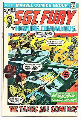 MARVEL COMIC Sgt Fury and His Howling Commandos (1963- 1981)   #104  Fine +