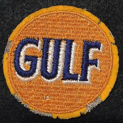 Very Early Vintage Gulf Oil Company Patch - Round
