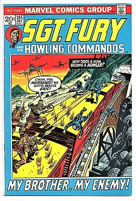 MARVEL COMIC Sgt Fury and His Howling Commandos (1963- 1981)   #105  Fine +