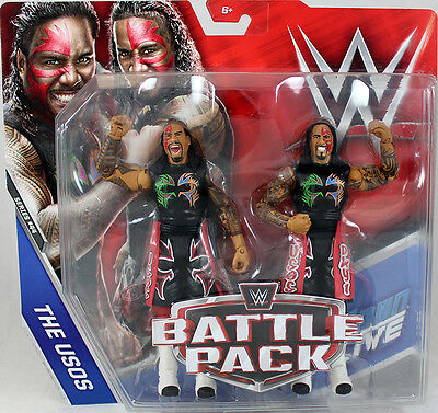 The Usos (Jimmy & Jey) - WWE Battle Packs 44 Mattel Toy Action Figures