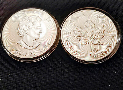 1oz Commemorative Silver Plated Coin -- 2016 Canadian Maple Leaf Coin