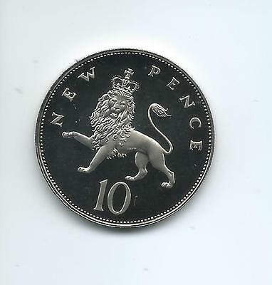 1975 Royal Mint Proof  10p taken from a Royal Mint Proof Set.