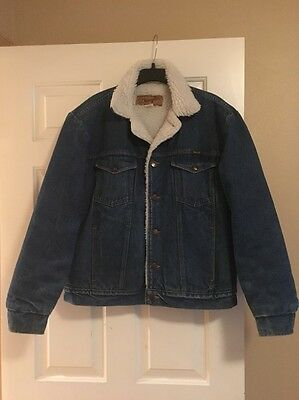 WRANGLER Authentic Western Jean Jacket M  Made in USA