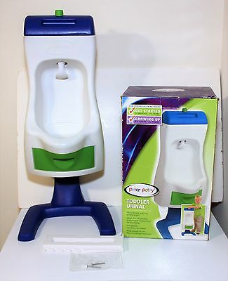 Peter Potty Flushable Toddler Boy's Training Bathroom Urinal Pee Stand Toilet