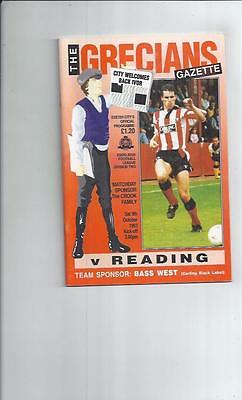 Exeter City v Reading Football Programme 1993/94