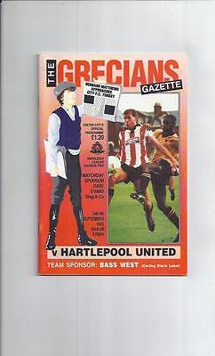 Exeter City v Hartlepool United Football Programme 1993/94