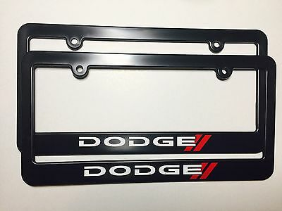 DODGE CHALLENGER LICENSE Plate Frame Stainless Steel Engraved Bright ...