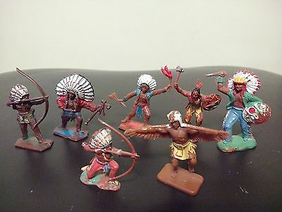 Lone Star And Crescent Toys Indian Warriors