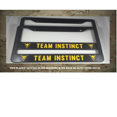 Pokemon Go Team Instinct Plastic License Plate Holder Frames Vinyl Decal