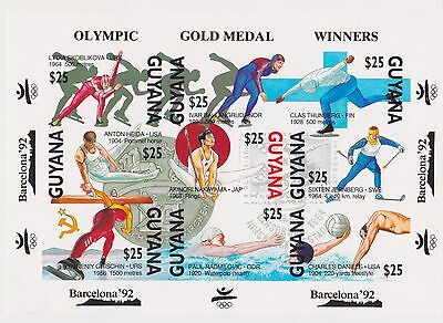 Guyana - Olympic Gold Medal Winners Barcelona 1992 - Sc 2395 MNH - IMPERFORATE
