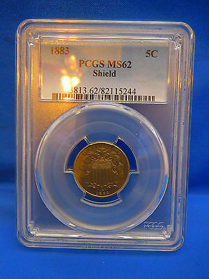 1883 US Shield Nickel MS62 by PCGS
