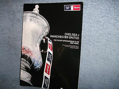 Chelsea V Manchester Utd 19-5-2007 Fa Cup Final Football Programme