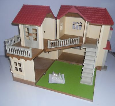Sylvanian Families Beechwood Hall,  Plus Monkey Family  & Furniture. No Boxes
