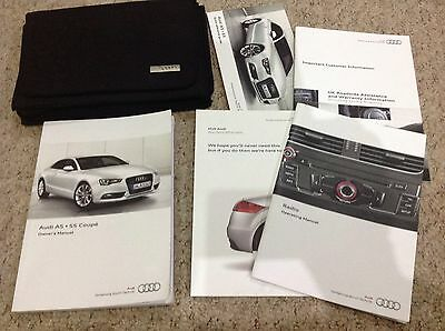 AUDI S5 A5 HANDBOOK PACK OWNERS MANUAL  2011-2015 INC radio system