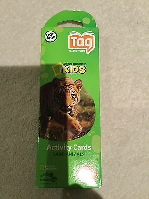 Leapfrog Tag Reading System National Geographic  Activity Cards-Land Animals-New