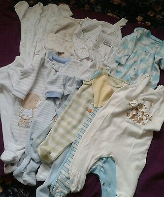Baby boy sleepsuits up to 3 months