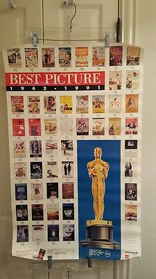 Academy Awards AMPAS Poster Featuring the ''Best Picture'' 1942 - 1991