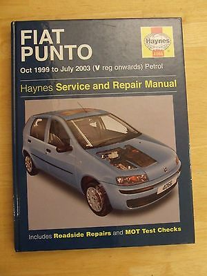 Fiat Punto 1999 - 2003 Petrol 4066 Haynes Workshop Manual Service & Repair