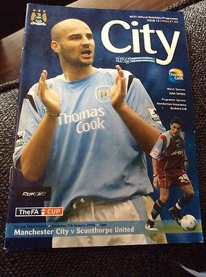 Manchester City v Scunthorpe United 2005/06 FA Cup Programme